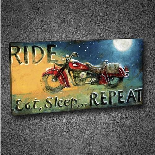 Artmoda - Kabartmalı Motosiklet Tablo