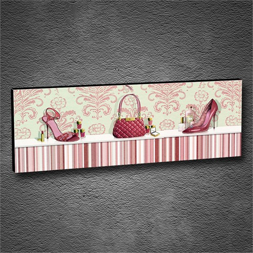 Artmoda - Kabartmalı Pink Accessories Tablo