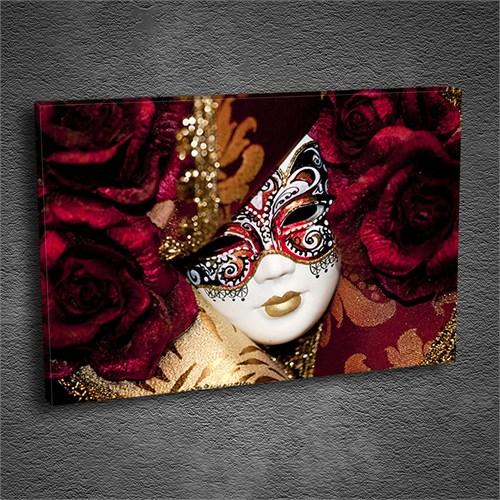Artmoda - Kabartmalı Maskeli Kadın Tablo