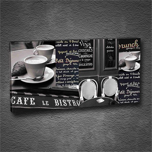 Artmoda - Kabartmalı Cafe Le Bistro Tablo