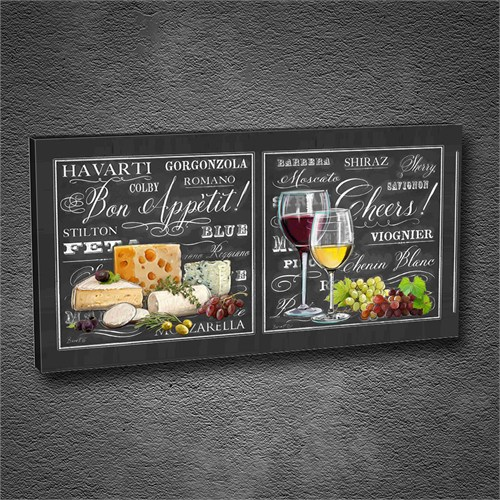 Artmoda - Kabartmalı Cheese, Grape Tablo