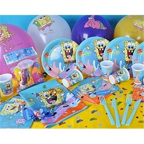 Partişöleni Sünger Bob Doğum Günü Parti Seti 20 Kişilik Super Set