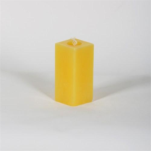 Sarı Kare 10 Cm Papatya Kokulu Mum
