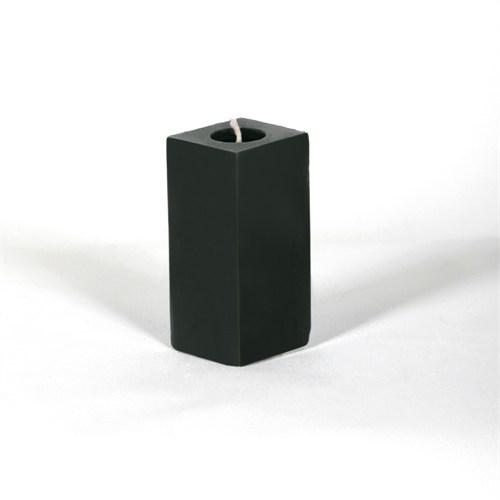 Siyah Kare 10 Cm Kokusuz Mum