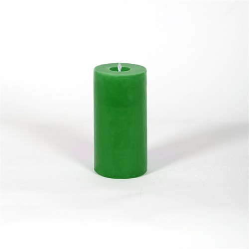 Yeşil 5*10 Cm Kokusuz Silindir Mum