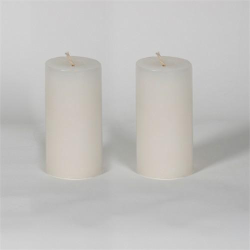 Beyaz 5*10 Cm Kokusuz 2'Li Silindir Mum