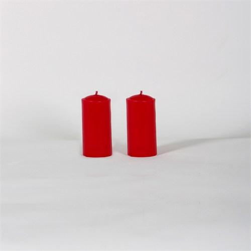 Kırmızı 32-7 2'Li Beş Çiçek Kokulu Bar Mum