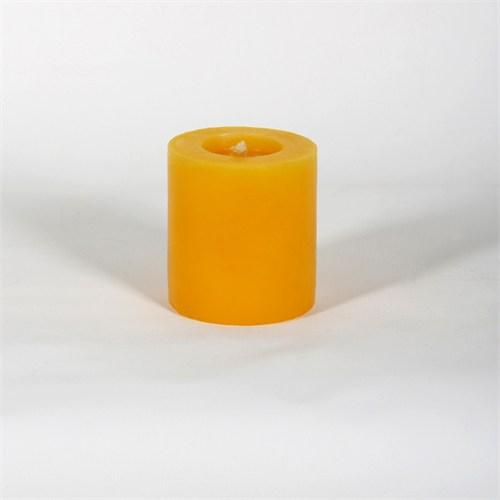 Sarı 6.5*7 Cm Papatya Kokulu Silindir Mum