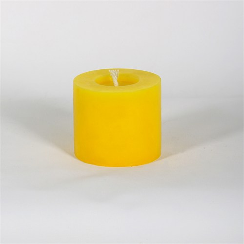 Sarı 8*7 Cm Papatya Kokulu Silindir Mum