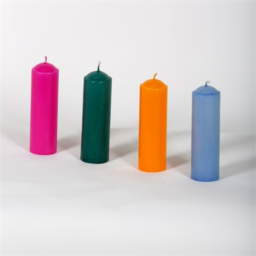 32-11 4 Farklı Renkli Bar Tipi Mum