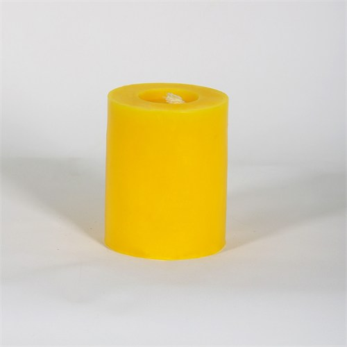 Sarı 8*10 Cm Kokusuz Silindir Mum