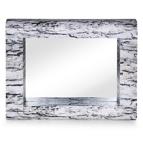 Altıncı Cadde Duvar Aynası Natural Dikdörtgen 100X80 Cm