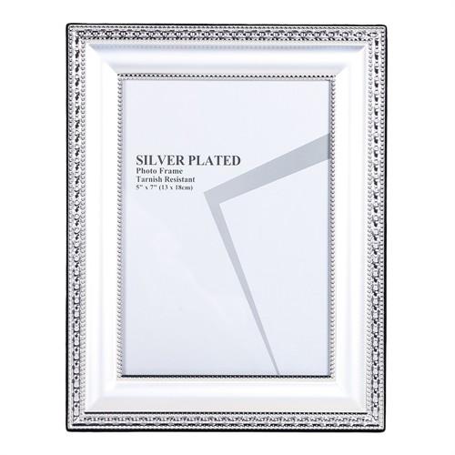 Altıncı Cadde Metal Gümüş Renk Fotoğraf Çerçevesi 13X18 Cm