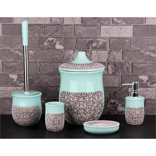 Gönül Seramik Çöp Kovalı 5 Parça Banyo Seti