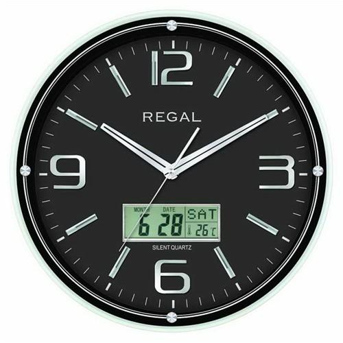 Regal 0543-Bbz Takvimli Isı Ölçer Duvar Saati