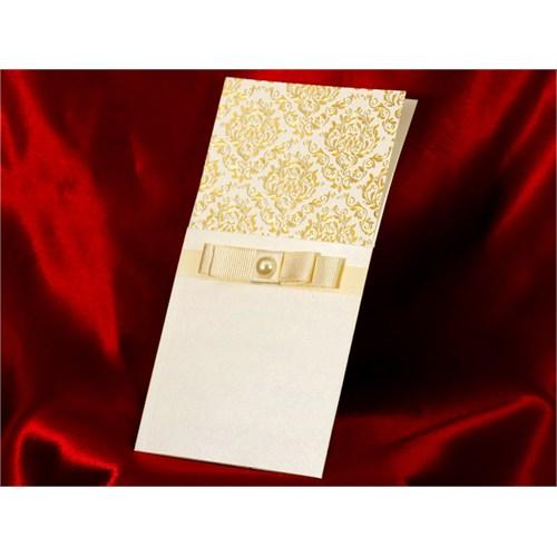 İnci Modelli Düğün Davetiye 100 Adet Zarfsız