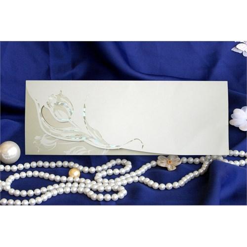 Lale Düğün Davetiye 100 Adet Zarflı
