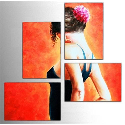 Tictac 4 Parça Kanvas Tablo - Tango