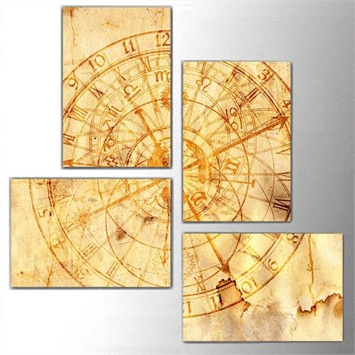 Tictac 4 Parça Kanvas Tablo - Astroloji