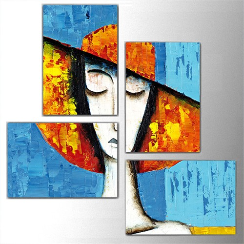 Tictac 4 Parça Kanvas Tablo - Dekoratif