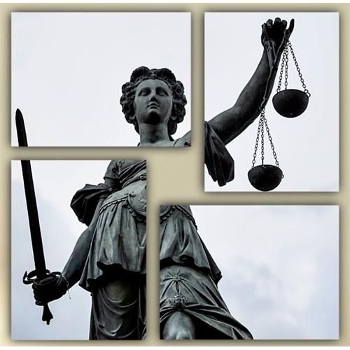 Tictac 4 Parça Kanvas Tablo - Adalet