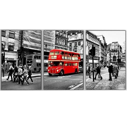 Tictac Londra 3 Parça Kanvas Tablo - Londra