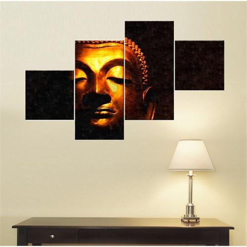 Tictac 4 Parça Kanvas Tablo - Buddha