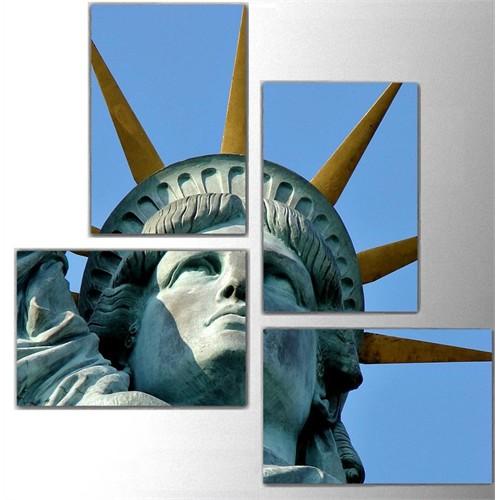 Tictac Özgürlük - 4 Parça Kanvas Tablo