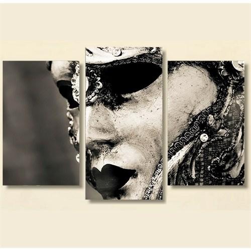 Tictac 3 Parça Kanvas Tablo - Maske