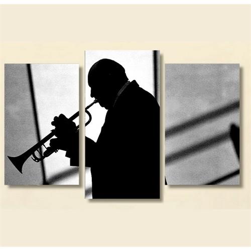 Tictac 3 Parça Kanvas Tablo - Trompet