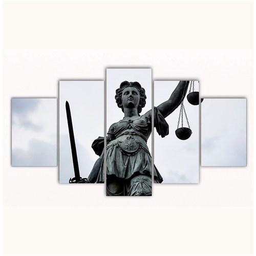 Tictac 5 Parça Kanvas Tablo - Adalet Heykeli - 100X60 Cm