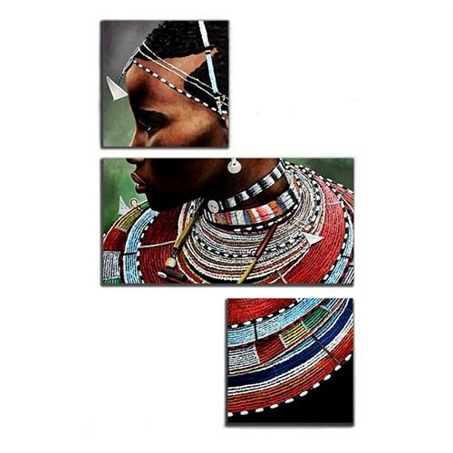 Tictac 3 Parça Asimetrik Tablo - Afrikalı Çocuk