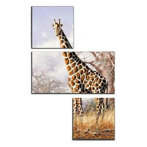 Tictac 3 Parça Asimetrik Tablo - Zürafa