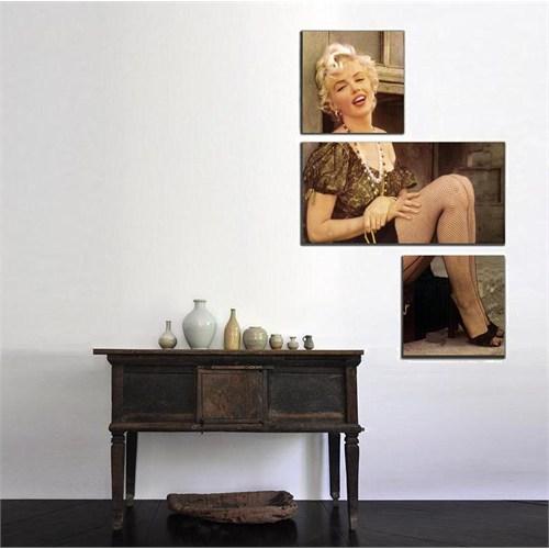 Tictac 3 Parça Asimetrik Tablo - Marilyn