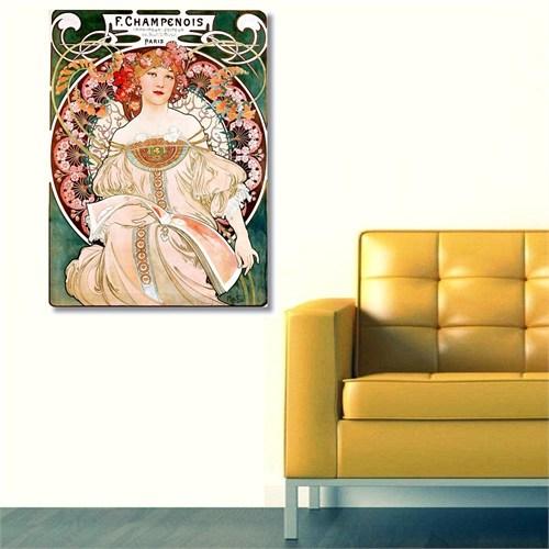 Tictac Vintage 4 Kanvas Tablo - 50X75 Cm