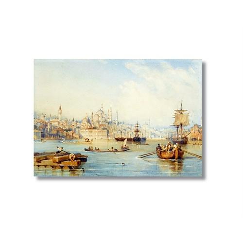 Tictac Eski İstanbul Boğazı 2 Kanvas Tablo - 50X75 Cm
