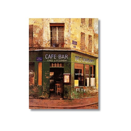 Tictac Cafe Bar Kanvas Tablo - 50X75 Cm