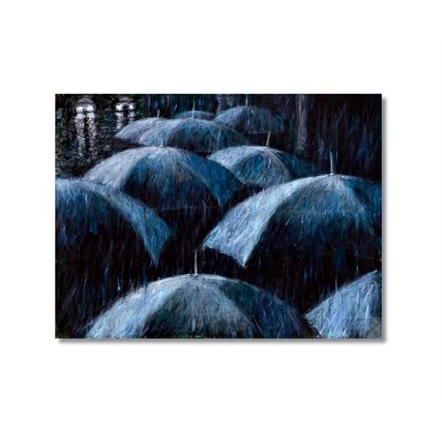 Tictac Şemsiyeler Kanvas Tablo - 40X60 Cm