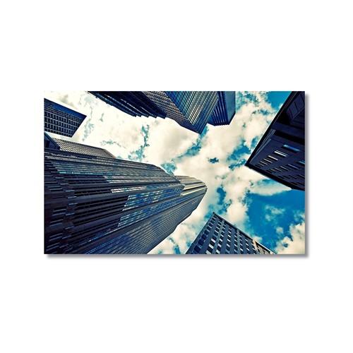Tictac Binalar Ve Gökyüzü Kanvas Tablo - 60X90 Cm