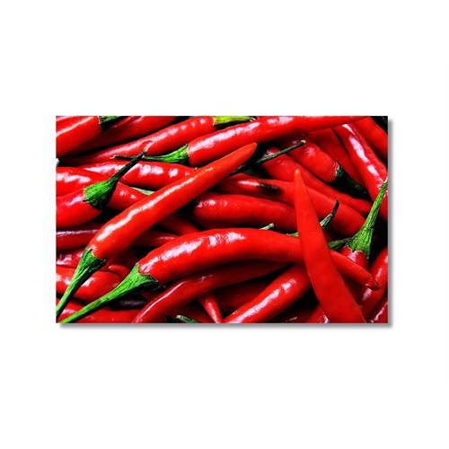 Tictac Kırmızı Biberler Kanvas Tablo - 50X75 Cm