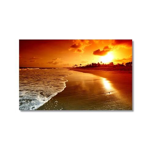 Tictac Deniz Kum Güneş Kanvas Tablo - 50X75 Cm