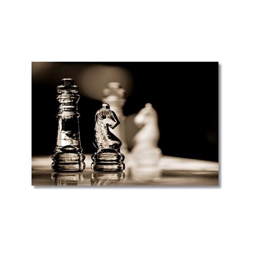 Tictac Satranç Taşları 3 Kanvas Tablo - 50X75 Cm