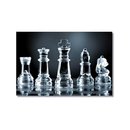Tictac Satranç Taşları 4 Kanvas Tablo - 60X90 Cm