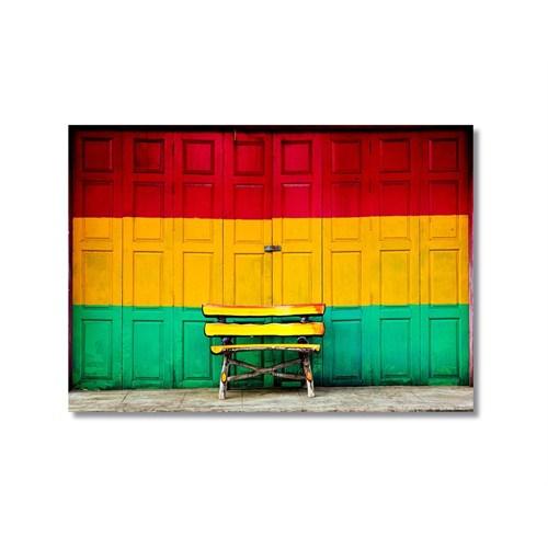 Tictac Renkli Kapı Kanvas Tablo - 50X75 Cm