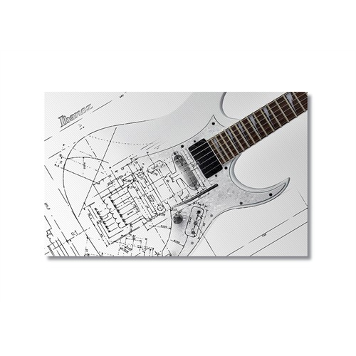 Tictac Teknik Gitar Kanvas Tablo - 50X75 Cm
