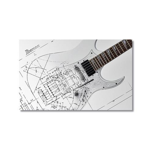 Tictac Teknik Gitar Kanvas Tablo - 60X90 Cm