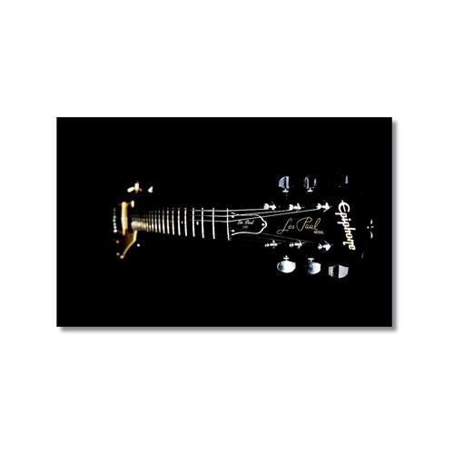 Tictac Siyah Gitar Kanvas Tablo - 50X75 Cm