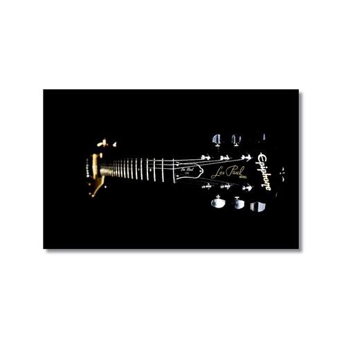 Tictac Siyah Gitar Kanvas Tablo - 60X90 Cm