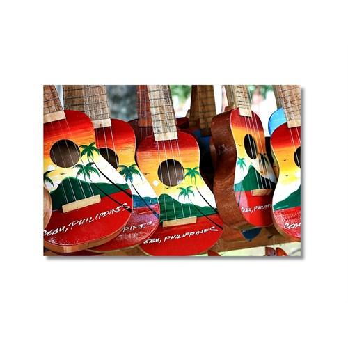 Tictac Renkli Gitarlar 2 Kanvas Tablo - 40X60 Cm