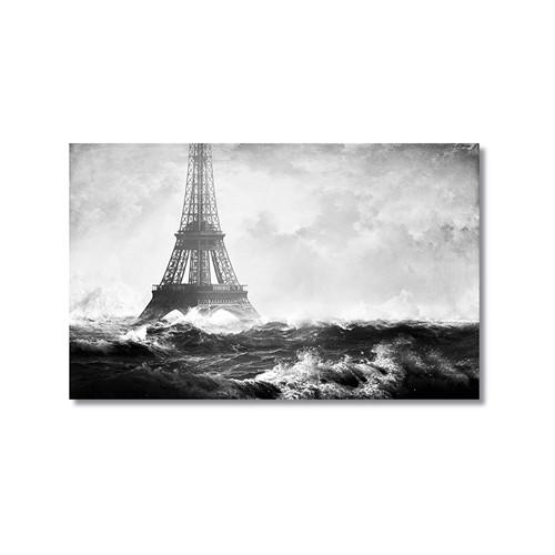 Tictac Denizde Eyfel Kanvas Tablo - 60X90 Cm